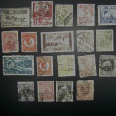 Perfin Timbre romanasti diferite - Timbre Romania, Stampilat