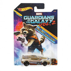Masinuta Hot Wheels Car Marvel Guardians Of The Galaxy Vol.2 Rocketraccoon Fast Fish Mattel