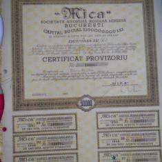 HOPCT DOCUMENT VECHI NR 160 CERTIFICAT PROVIZORIU SOC MINIERA MICA 50000-1946, Romania 1900 - 1950, Documente