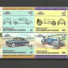 Union Island 1985 - automobile-2, serie neuzata - Timbre straine