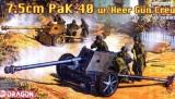+ Kit tun si figurine 1/35 - Dragon 6249 - 7.5cm PAK 40 w/Heer Gun Crew +