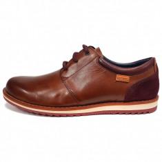 Pantofi barbati, din piele naturala, marca Pikolinos, culoare coniac, marimea 44, Casual