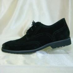 Pantofi barbati, din piele naturala, marca Caprice, culoare negru, marimea 45, Eleganti