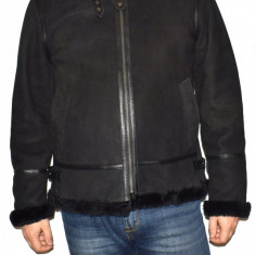 Cojoc barbati, din blana naturala, marca Kurban, culoare negru, marimea 4XL - Geaca barbati Kurban, XXXXL, Piele