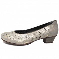 Pantofi dama, din piele naturala, marca Ara, culoare gri, marimea 40 - Pantof dama