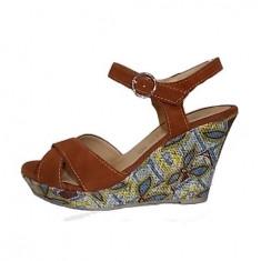 Sandale dama, din piele naturala, marca Tamaris, culoare caramiziu, marimea 35, Bordeaux