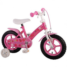 Bicicleta cu Roti Ajutatoare Flowerie 12 inch - Bicicleta copii