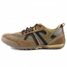 Pantofi sport barbati, din piele naturala, marca Geox, culoare taupe, marimea 40 - Pantofi barbat
