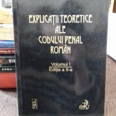 EXPLICATII TEORETICE ALE CODULUI DE PROCEDURA PENALA ROMAN. PARTEA GENERALA - VINTILA DONGOROZ VOLUMUL 1 - Carte Drept penal