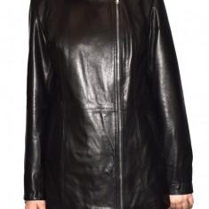 Haina dama dama piele, din piele naturala, marca Kurban, culoare negru, marimea 5XL