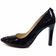 Pantofi dama, din piele naturala, marca Botta, culoare negru, marimea 39 - Pantof dama Botta, Cu toc
