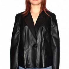 Haina dama dama piele, din piele naturala, marca Kurban, culoare negru, marimea 44 - Geaca dama