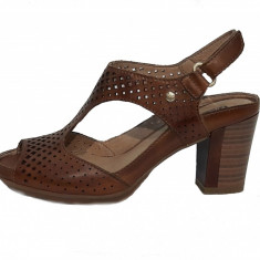 Sandale dama, din piele naturala, marca Pikolinos, culoare coniac, marimea 39