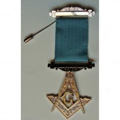 Medalie Masestru Mason - Echer si Compas cu litera G