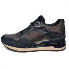 Pantofi sport dama, din piele naturala, marca Geox, culoare negru, marimea 39