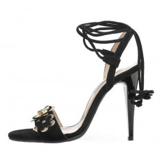 Sandale dama, din piele naturala, marca Botta, culoare negru, marimea 37