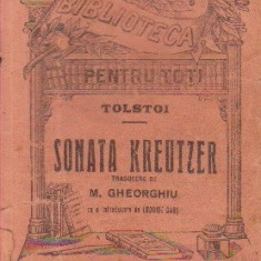 Sonata Kreutzer (Traducere de M. Gheorghiu, Editura Universala Alcalay)