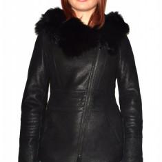 Cojoc dama, din blana naturala, marca Kurban, culoare negru, marimea L