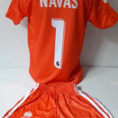 Echipamente portar  pentru copii Real Madrid Navas set fotbal portocaliu