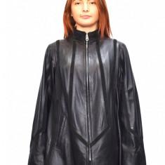 Haina dama dama piele, din piele naturala, marca Kurban, culoare negru, marimea S - Geaca dama