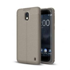 Husa Nokia 2 TPU Grain - Husa Telefon, Gri, Silicon, Carcasa