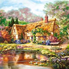 Puzzle Castorland - 3000 de piese - Carl Valente : Twilight at woodgreen Pond