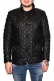 Haina barbati, din piele naturala, marca Kurban, culoare negru, marimea XL