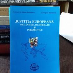JUSTITIA EUROPEANA. MECANISME, DEZBATERE SI PERSPECTIVE - VICTOR DUCULESCU - Carte Drept international