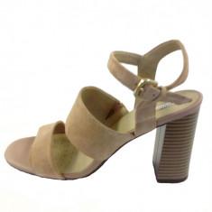 Sandale dama, din piele naturala, marca Geox, culoare bej, marimea 36