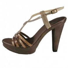 Sandale dama, din piele naturala, marca Gatta, culoare bej, marimea 40