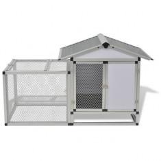 Coteț pentru găini aluminiu 158 x 63 x 93 cm