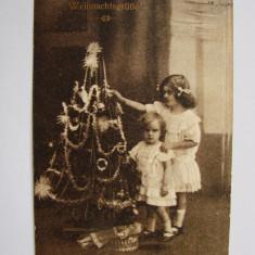 Carte postala Craciun - circulata in anul 1915 la Timisoara - Carte Postala Banat 1904-1918, Printata