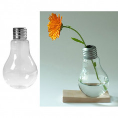 Recipient decorativ sticla forma bec, 100 ml, transparenta, 11 cm