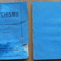 Catehismu de Josafat Arhimandrit , Paris , 1870 , in limba romana