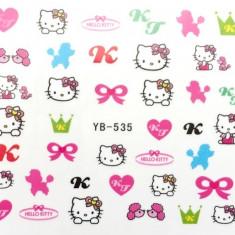 Tatuaje Unghii Hello Kitty