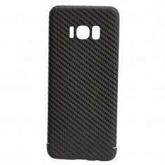 Husa de Carbon NEVOX pentru Samsung Galaxy S8, Black - Sigurante Moto