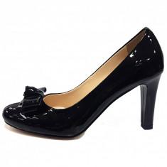 Pantofi dama, din piele naturala, marca Botta, culoare negru, marimea 36 - Pantof dama Botta, Cu toc