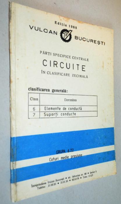 Parti specifice centrale circuite in clasificare zecimala. Vulcan Bucuresti