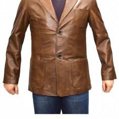 Haina barbati, din piele naturala, marca Kurban, culoare maro, marimea XXL - Geaca barbati