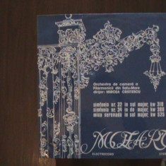MOZART - Simfoniile Nr.32 KW318 & Nr.34 KW 388, Mica serenadă-Disc pick-up vinil - Muzica Clasica Melodia