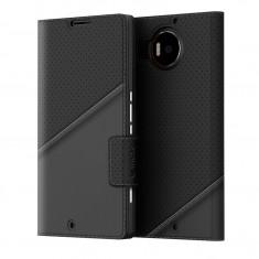 Husa de piele Mozo Thin Flip Microsoft Lumia 950 XL, Black Golf - Schimbator viteze Tuning