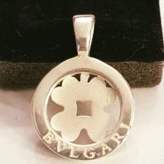 PANDANTIV BVLGARI, ARGINT, TRIFOI - Inel argint