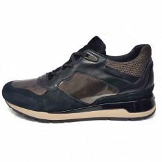 Pantofi sport dama, din piele naturala, marca Geox, culoare negru, marimea 36