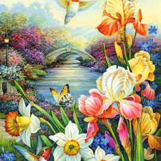 Puzzle Castorland - 1500 de piese - Golden Irises