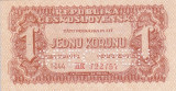 SPECIMEN CEHOSLOVACIA 1 korunu 1944 AUNC+!!!