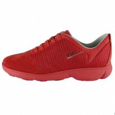 Pantofi sport dama, din piele naturala, marca Geox, culoare corai, marimea 36 - Adidasi dama