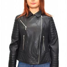 Haina dama dama piele, din piele naturala, marca Kurban, culoare negru, marimea XL - Geaca dama