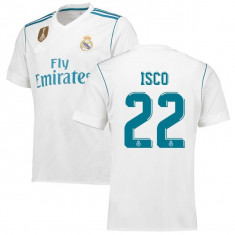 Tricou REAL MADRID, 22 Isco 2017/2018, SUPER MODEL - Echipament fotbal, Marime: XL, L, M, S, XS, Tricou fotbal