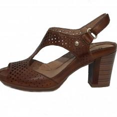 Sandale dama, din piele naturala, marca Pikolinos, culoare coniac, marimea 38