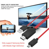 Cablu adaptor Micro USB MHL 11 pini la HDMI pentru Samsung Note 3 S3 S4 S5